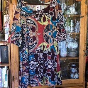 Colorful weekend dress 3/4 sleeves
